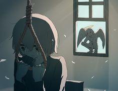 Dark Art Illustrations, Illustration Art, Sun Projects, Vent Art, Arte Obscura, Sad Wallpaper, Sad Art, Sad Anime, Japanese Artists