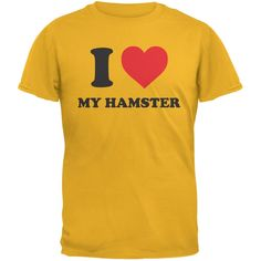I Heart My Hamster Gold Adult T-Shirt