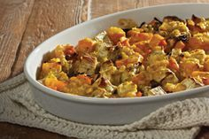 Butternut and sweetcorn bake