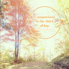 oh hello, love!: Comparison is the thief of joy quotation. Collaboration with Rinse. Repeat. blog