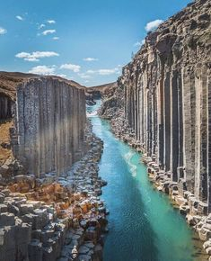 Beautiful Places Discover Enormous basalt stacks Stuðlagil Iceland More memes funny videos and pics on Beautiful Places To Visit, Cool Places To Visit, Places To Travel, Travel Destinations, Beautiful Beautiful, Wonderful Places, Reisen In Europa, Iceland Travel, Travel Abroad