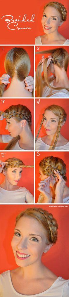 Braided Crown - Flechtkranz Frisuren Tutorial von Belle Mélange http://www.belle-melange.com/braided-crown/
