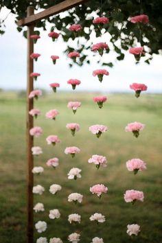 18 Hanging Flower Displays for Your Wedding via Brit   Co