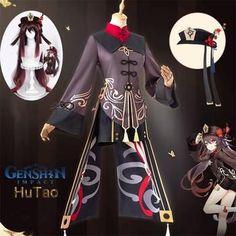 Genshin Impact Hutao Cosplay Costume Carnival Costumes, Halloween Costumes, Halloween Party, Anime Halloween, Halloween Ideas, Anime Costumes, Cosplay Costumes, Anime Uniform, Fancy Suit