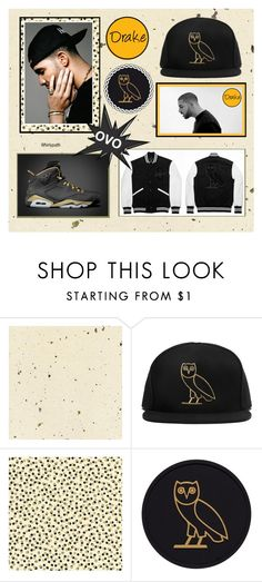 """Drake OVO!"" by whirlypath ❤ liked on Polyvore featuring October's Very Own, Drakes London, men's fashion and menswear"