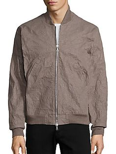 JOHN ELLIOTT ALUMINUM FLIGHT JACKET. #johnelliott #cloth #