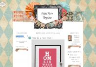 Faded | Blog Template | The Cutest Blog On The Block