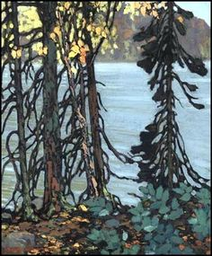 Frank Hans (Franz) Johnston, Canadian Autumn Tangle, c. oil on canvas, 24 x 20 in x private collection, Ontario. Member of The Group of Seven Group Of Seven Artists, Group Of Seven Paintings, Canadian Painters, Canadian Artists, Abstract Landscape, Landscape Paintings, Tom Thomson Paintings, Beautiful Paintings, Small Paintings