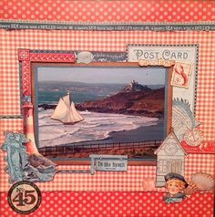 Beautiful By the Sea layout from Clare! #graphic45 #layouts