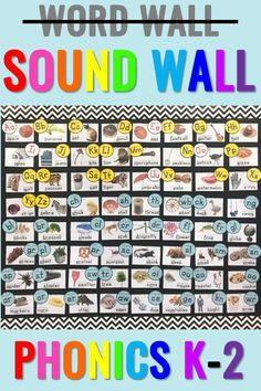 This phonics sound wall has 84 cards with real life photos! It's an amazing reference as students are learning and applying new phonics sounds and spellings. From Positively Learning Blog #phonicswall #soundwall
