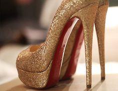 #Louboutin glitter