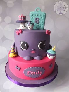 Shopkins Birthday Cake - Cake by Butterfly Cakes and Bakes Shopkins Birthday Cake, 8th Birthday Cake, Shopkins Cake, Happy Birthday, Cupcakes, 9 Year Old Girl Birthday, Birthday Ideas, Butterfly Cakes, Character Cakes