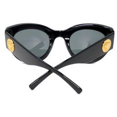 6b584ec93c SUNGLASSES- -Versace Black Classic  the Gianni Tribute Collection  4353  Wrap Cat-eye Medusa Sunglasses - tradesy