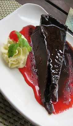 Dark chocolate Cake. http://www.hebertcandies.com/