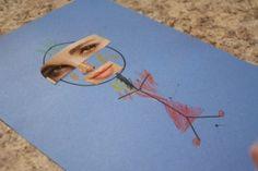 Preschool/ toddler art project teaching about facial features.