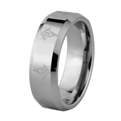 Ring Size 10 Security Jewelers White Tungsten 6mm Satin /& Polished Beveled Band Size 10