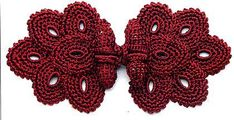 Red frog button closure - crochet diagram