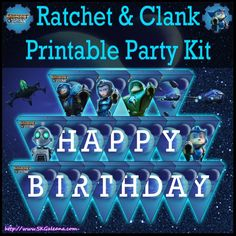 Ratchet and Clank Printable party kit