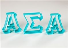 Sassy Sorority | Alpha Sigma Alpha Greek Letter Cookie Cutters