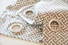 Easy and Inexpensive: Try These DIY Home Decorating Projects: No-Sew Grommet Drapes via Brooklyn Limestone