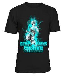 Pain Make Strong - Goku Kaioken Shirt  #gift #idea #shirt #image #funnyshirt #bestfriend #batmann #supper # hot