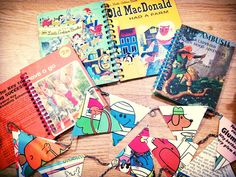 Zenya's Stationery uses old children's books to make one of a kind notebooks. Take a look at the her up-cycled gifts at the White Christmas Fair.