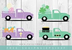 FREE Easter & St. Patrick's Day truck SVG