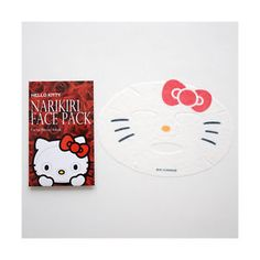 Sanrio Hello Kitty Face Pack 2 Sheets RED -beauty skin care masks- Japan New