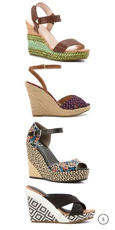 Espadrille wedges will keep you on your stylish toes this summer. We like the incorporation of a colorful woven heel or flirty patterned toe. Find your perfect pair among a wide range of brands on SHOES.com today.