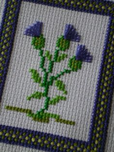 scottish thistle cross stitch