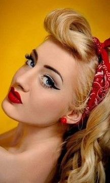 New Ideas wedding makeup vintage pinup . New Ideas wedding makeup vintage pinup - © COPYRIGHT - Rockabilly Make Up, Mode Rockabilly, Rockabilly Fashion, Pin Up Vintage, Vintage Ideas, Vintage Bandana, Pin Up Looks, Pin Up Makeup, Hair Makeup
