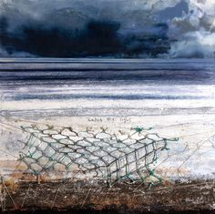 'Catch the Light' by British artist Kurt Jackson (b.1961). Oil & mixed media on canvas, 152.4 x 152.4 cm. source: BBC. via pink pagoda studio