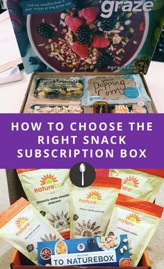 How to Choose the Right Snack Subscription Box for You Graze Box, Free Subscriptions, Sub Box, Monthly Subscription Boxes, Snack Box, Snacks, Gift Boxes, Frugal Living, Recipes