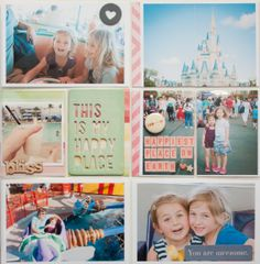 Project Life Week 8 with Disney World Insert by A2Kate at @Studio_Calico