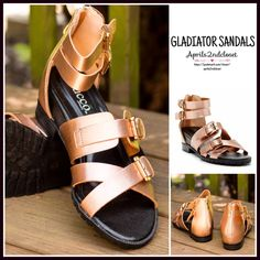 "❗️1-HOUR SALE❗️METALLIC SANDALS Gladiator Flats METALLIC SANDALS Strappy Flats Ankle Strap Sandals  NEW WITH TAGS  * High quality construction  * Back zip closure.  * Multi ankle lace up look strap closure gladiator vamp w/adjustable buckles  * open toe  * Flat ballet style sole .75"" front & 2"" stacked lug sold back high heels  * Gold hardware   * True to size  Material:Manmade upper & sole  Color:Metallic Rose Gold Item:93900 Embellished flatform No Trades ✅ Offers Considered*✅ *Please use…"