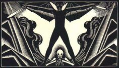 """John Buckland Wright's illustrations for """"Le Sphinx"""" by the Belgian Symbolist Iwan Gilkin."""