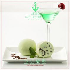 Chocolate Mint Gelato Desserts ⚓ ANCHOR Cafe & Restaurant - Taste the difference! Chocolate Mint - A delicate flavoured coating conceals a refreshing blended with Chocolate Coating, Dark Chocolate Chips, Mint Chocolate, Affogato, Dessert Salads, Coffee Cream, Cafe Restaurant, Gelato, Peppermint