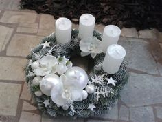Advent Wreaths, Christmas Wreaths, Christmas Decorations, Table Decorations, Holiday Decor, Candels, Ideas, Home Decor, Christmas Deco