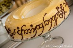 Lord of the Rings ring cake, with other party ideas and photos