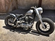 """Custom Harley-Davidson XLH Sportster """"Ironhead"""" pre-1970's   """"Wassel"""" style gas tank   Cocker tyres   H-D FLH style front end & swing arm"""