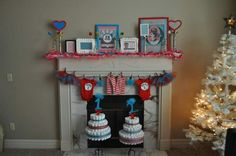 My daughter's Thing 1 & 2 baby shower