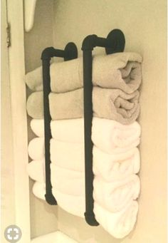 This post focuses on small bathroom organiz… Small Bathroom Storage Creative. This post focuses on small bathroom organizing ideas and simple bathroom storage solutions. Bath Towel Storage, Bathroom Wall Storage, Bathroom Storage Solutions, Small Bathroom Organization, Toilet Storage, Bathroom Design Small, Diy Bathroom Decor, Simple Bathroom, Bathroom Ideas