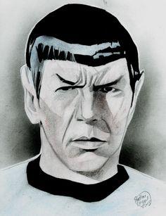 Star Trek - Spock (Leonard Nimoy) by Shelton Bryant *