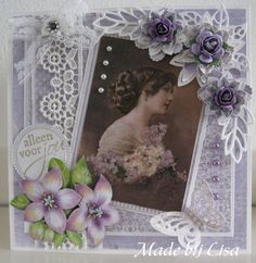 Handmade Lisa Schelvis Photo Wall Hanging, Shabby Chic Cards, Spellbinders Cards, Beautiful Handmade Cards, Marianne Design, Shaker Cards, Picture Cards, Card Tutorials, Sympathy Cards