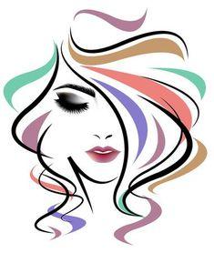 Women long hair style, women face on white background. Illustration of women long hair style, women face on white background stock illustration Fashion Illustration Face, Silhouette Art, Art Drawings Sketches, Woman Face, Girl Face, Face Art, Art Girl, Pop Art, Canvas Art