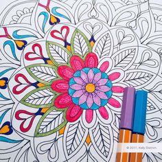 Petals Mandala - a free, printable mandala coloring page by Kelly Dietrich