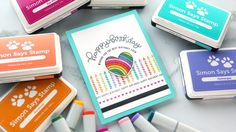 Colorful Rainbow Stamping + Copic Coloring (September 2017 Card Kit) - Simon Says Stamp Blog