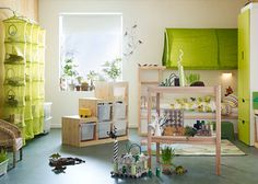 Ikea is one of the most innovative companies in the field of decor. Ikea furniture is known for its beauty and affordable prices. 2015 This year's furniture varies from contemporary to ethnic, popular Ikea 2015, Ikea Interior, Interior Design, Ikea Kids Bedroom, Bedroom Decor, Ikea Catalogue 2015, Green Kids Rooms, Kura Ikea, Brick Wall Decor