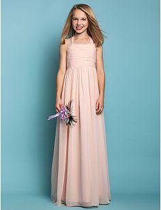 Junior Bridesmaid Dress - Sheath/Column Halter Chiffon flower girl dress - USD $ 87.29