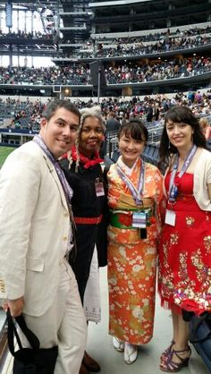 With international delegates at the 2014 International Convention in Arlington TX.